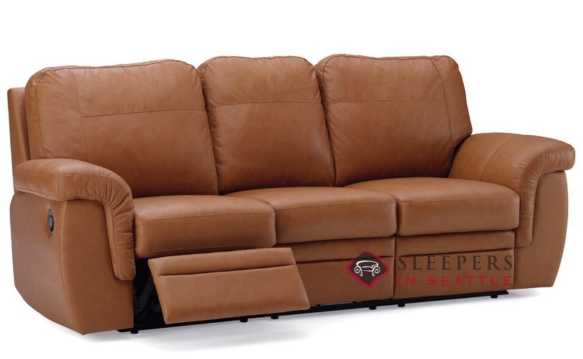Palliser Brunswick Dual Reclining Leather Sofa Power