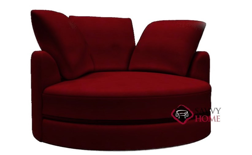 Cuddle Circle Leather Swivel Chair By Lazar Industries Is