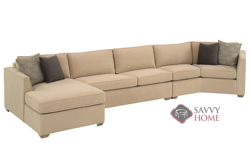 Strata fabric chaise sectional by lazar industries is for Chaise long sofa