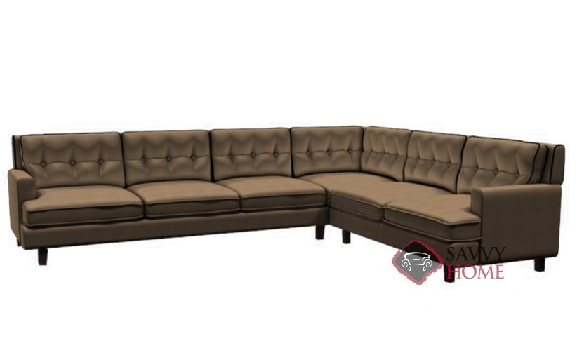 Barbara leather true sectional by palliser is fully for Palliser sectional leather sofa