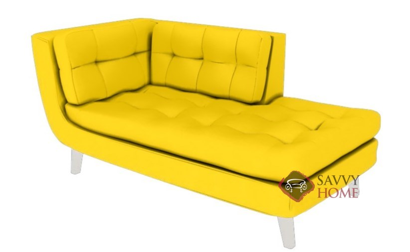 Ava leather chaise lounge by lazar industries is fully for Ava chaise lounge costco