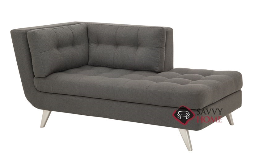 Ava fabric chaise lounge by lazar industries is fully for Ava chaise lounge