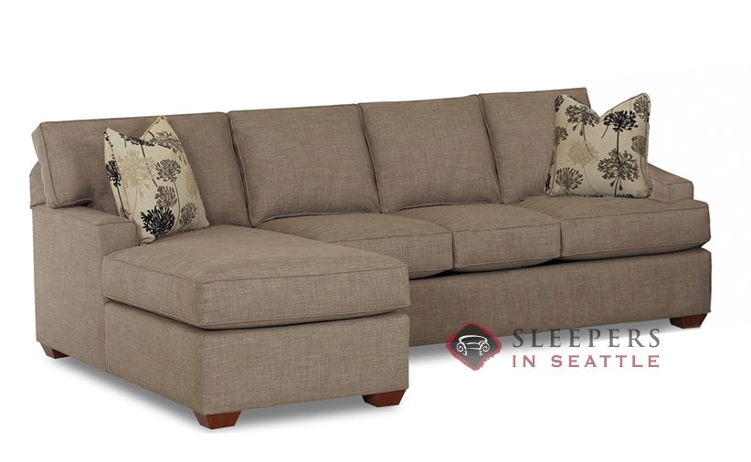 Palo Alto Chaise Sectional Sleeper shown in Dumdum Stone