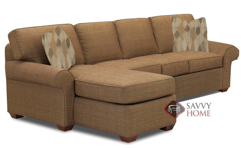 Seattle Fabric Chaise Sectional By Savvy Is Fully