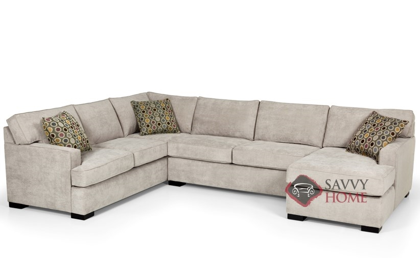 146 fabric true sectional by stanton is fully customizable for U shaped sectional with sleeper sofa