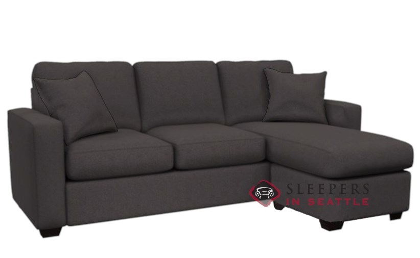 Sleeper sofa with chaise roselawnlutheran for Beeson fabric queen sleeper chaise sofa