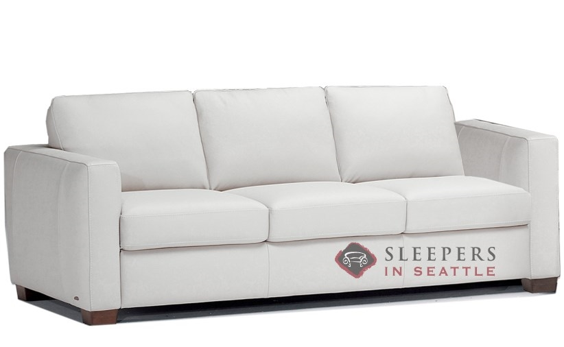 b735008 natuzzi editions roya leather sleeper sofa in denver antique white queen - Natuzzi Sofa