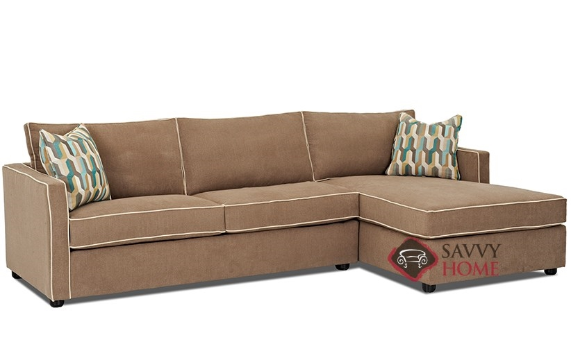Portland fabric chaise sectional by savvy is fully for Sectional sofas portland