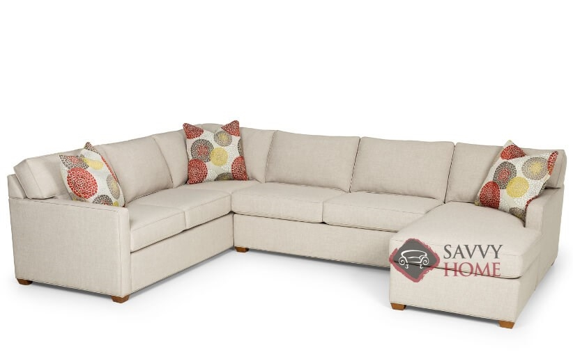 the 287 ushape true sectional queen sofa bed by stanton