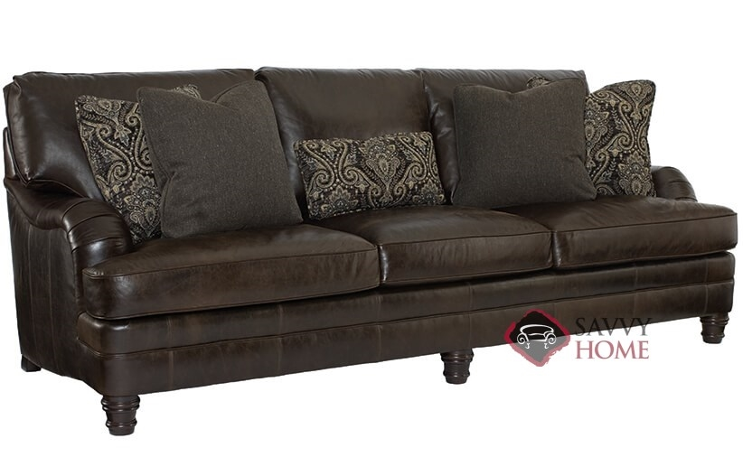 Tarleton By Bernhardt Leather Sofa Is Fully