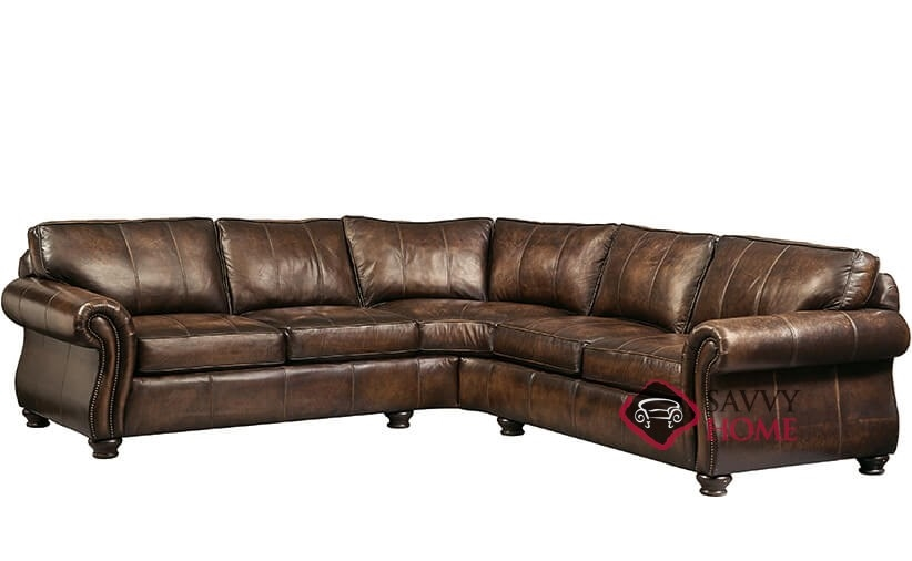 Quick Ship Van Gogh By Bernhardt Leather True Sectional In