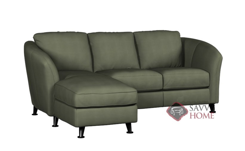 Alula fabric chaise sectional by palliser is fully for Angled chaise sofa