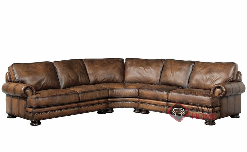 Foster by Bernhardt Leather True Sectional by Bernhardt is ...