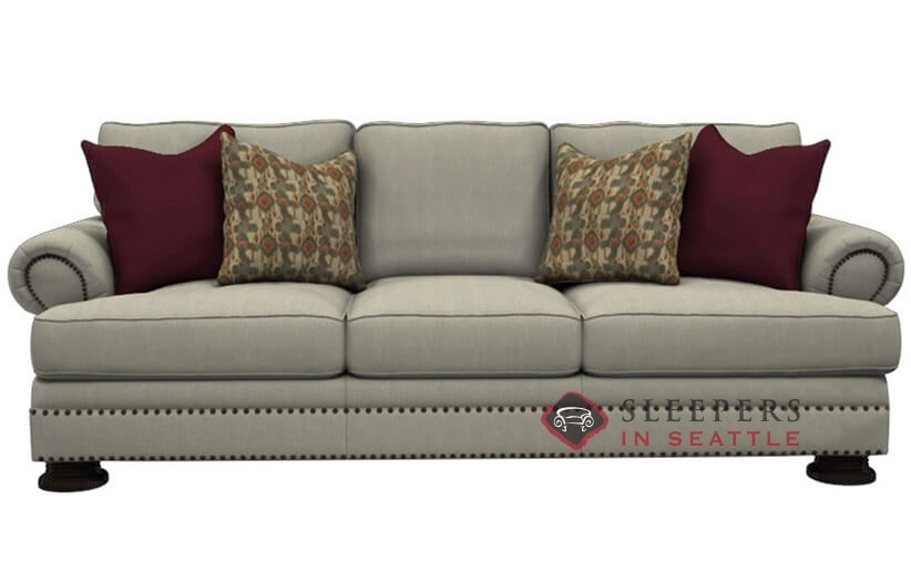 bernhardt foster sleeper sofa with downblend cushions queen