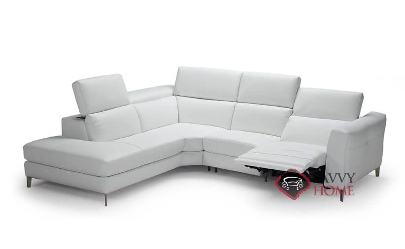 como power reclining leather chaise sectional by natuzzi