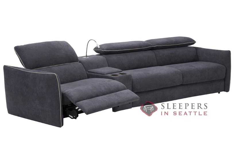 natuzzi group leather sofa costco editions b674 set sectional sleeper curved recliner open