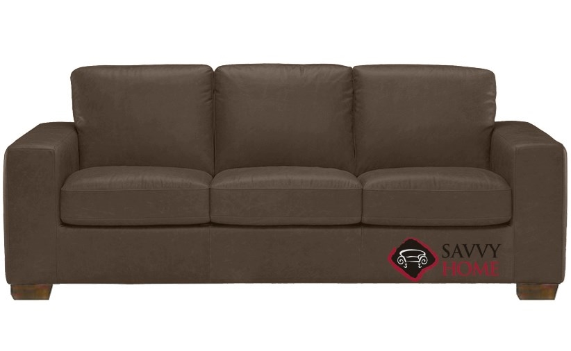 Quick ship rubicon b534 leather queen in denver dark for Leather sectional sofa denver