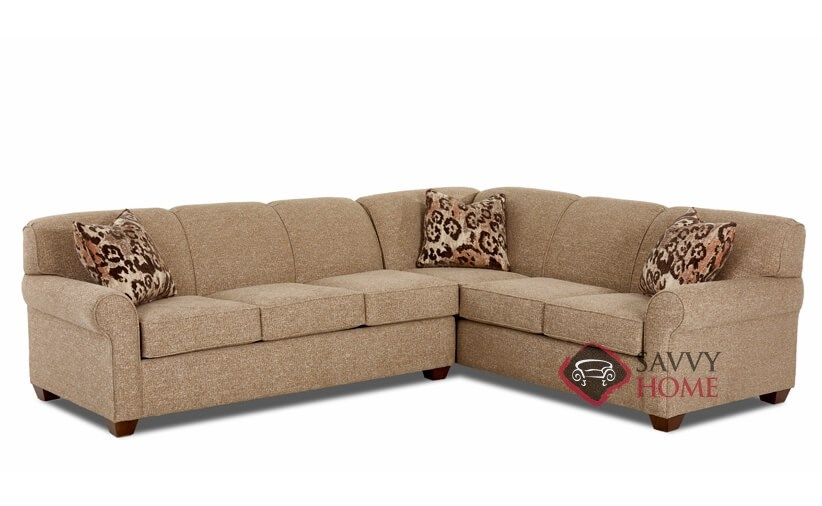 Calgary fabric true sectional by savvy is fully for Sectional sofa bed calgary