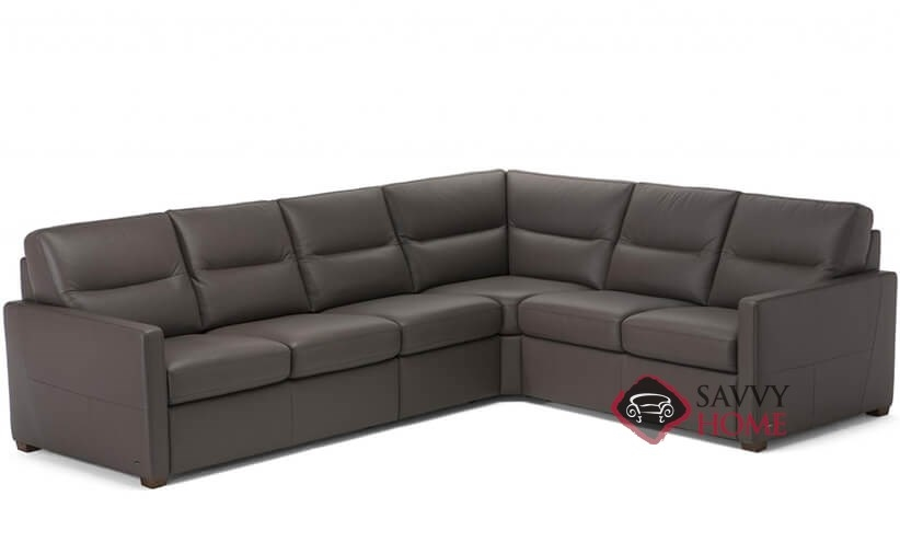 Conca Leather True Sectional By Natuzzi Is Fully