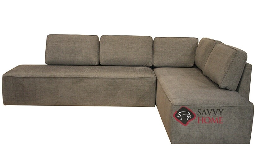 Quick ship new york by luonto fabric chaise sectional in for Sectional sofa new york