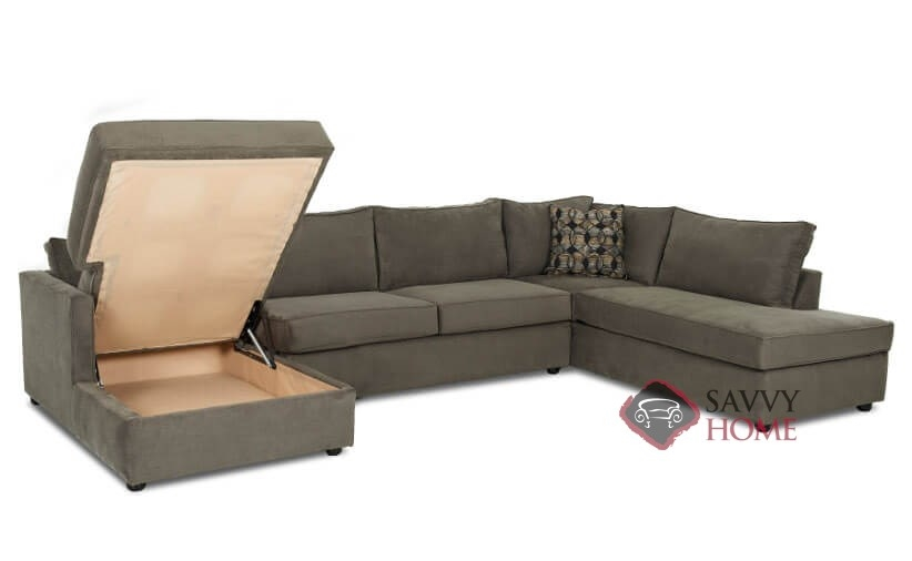 Portland fabric true sectional by savvy is fully for Sectional sofas portland
