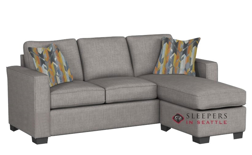 Stanton 702 Chaise Sectional Sleeper Sofa In Pinnacle Gray (Queen)
