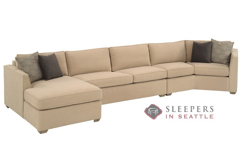 Chaise queen sleeper sectional sofa for Beeson fabric queen sleeper chaise sofa