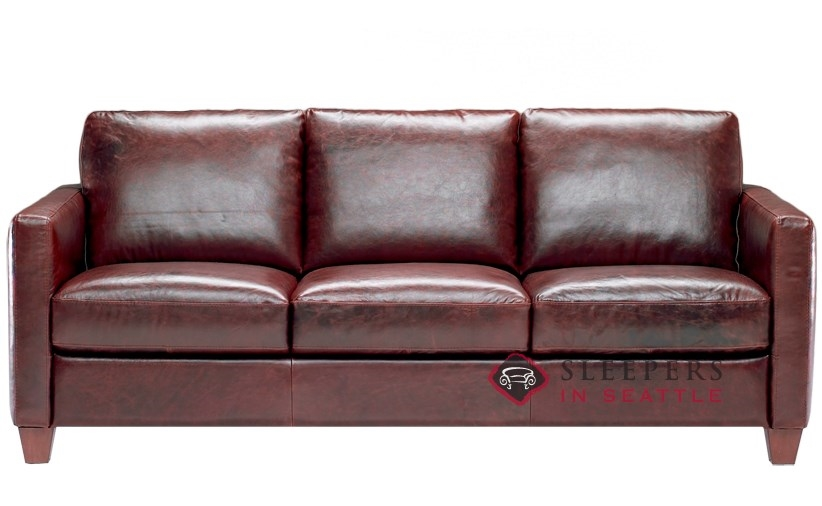 Natuzzi Leather Sofa Bed Couch